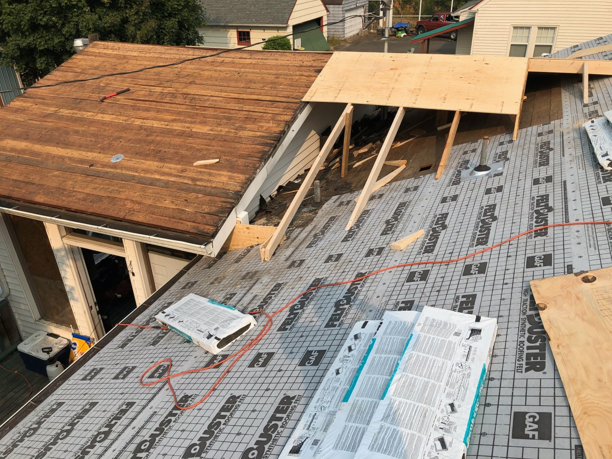 Residential Roof in Progress