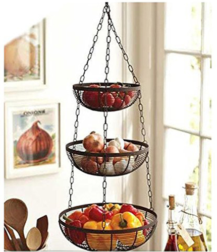 hanging kitchen basket Top 10 Best Hanging Kitchen Baskets in 2018 Reviews