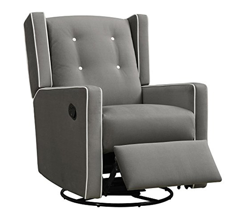 cheap glider chair ford explorer captains chairs 2017 top 10 best affordable nursery gliders in 2019 reviews baby relax gray microfiber gliding recliner