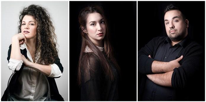 Costanza Filaroni, Giulia Anzivino, Luca Savani (Foto di Alessandro Morino)