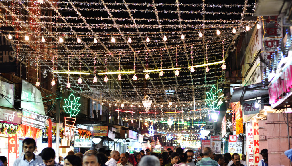 Pink City Market on Diwali