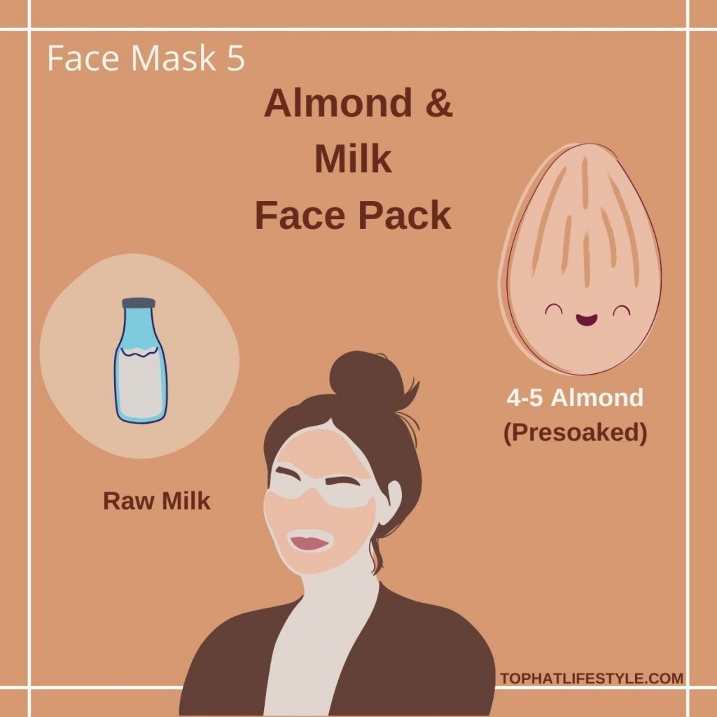 Almond & Milk Face Pack