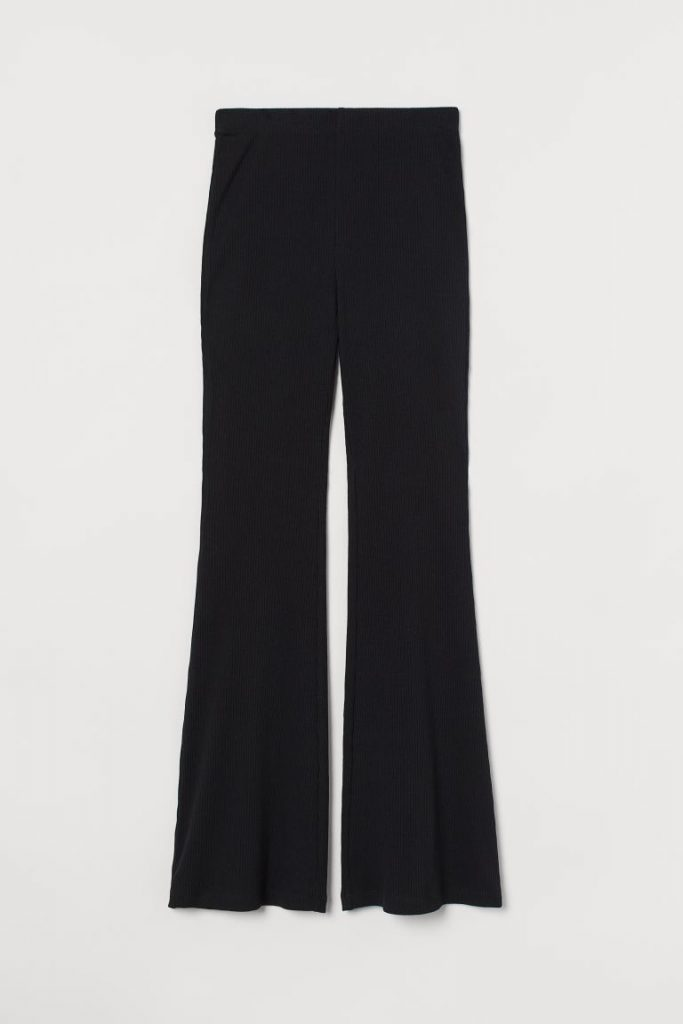 H&M India Black Flared leggings