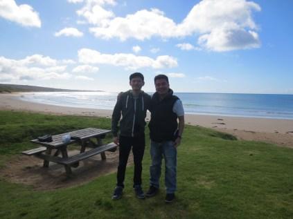 with Zan the man