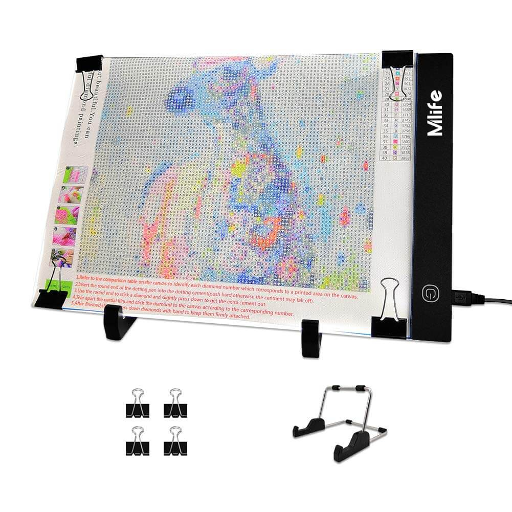 Mlife Diamond Painting A4 LED Light Pad - Dimmable Light Board Kit