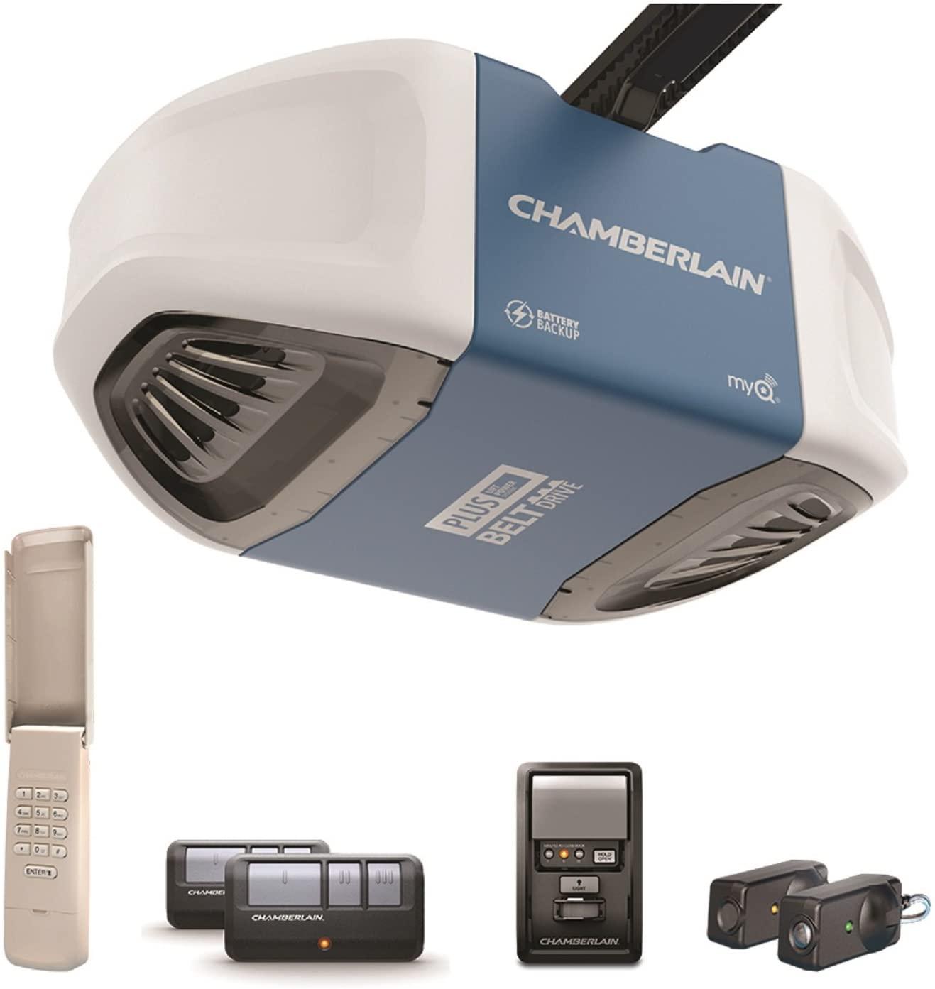 Chamberlain Group B730 Ultra-Quiet and Strong Belt Drive Garage Door Opener
