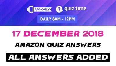 Amazon Quiz 17 december