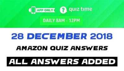 Amazon Quiz 28 december 2018