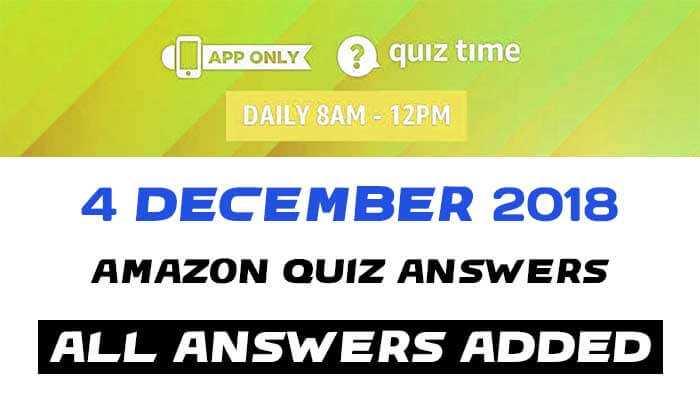 Amazon Quiz 4 december