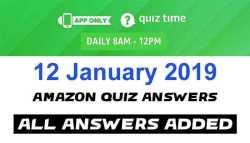 Amazon Quiz 12 january 2019