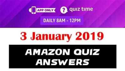 Amazon Quiz 3 january 2019