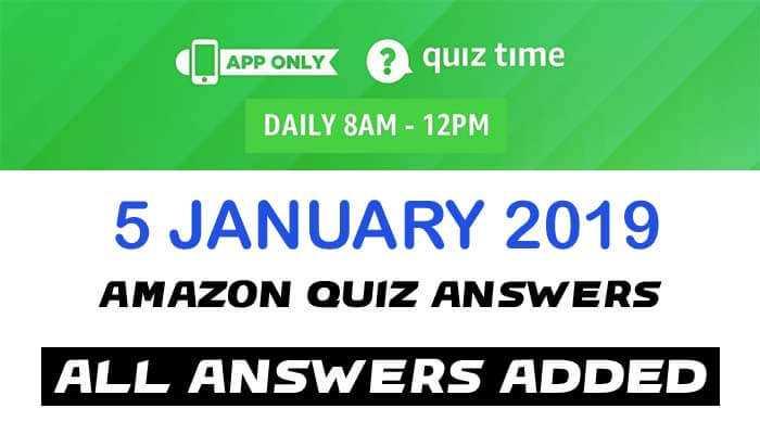Amazon Quiz 5 JANUARY 2019