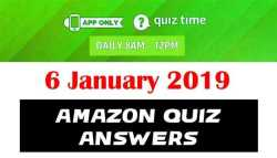 Amazon Quiz 6 January 2019