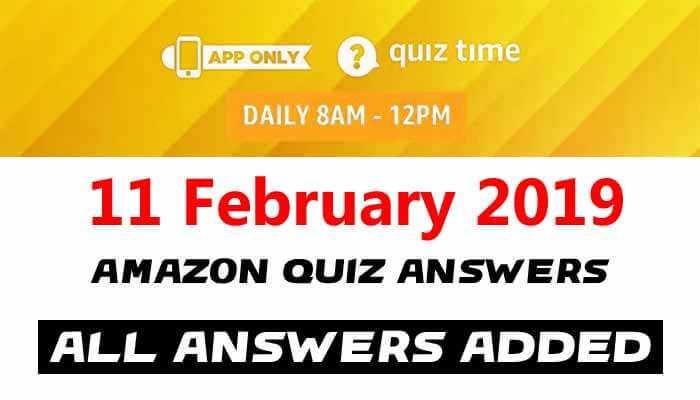 Amazon Quiz 11 February