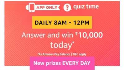 Amazon Quiz 1 March 2019, Amazon Quiz 15 February 2019 Answers - Rs10000 Pay Bal