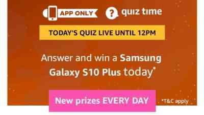 Amazon Quiz 10 March 2019 Answers - Samsung Galaxy S10