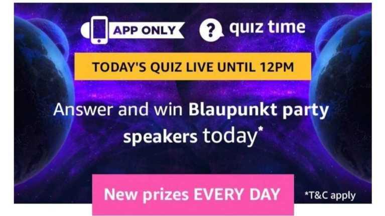 Amazon Quiz 26 July 2019 Answers Win - Blaupunkt Speaker