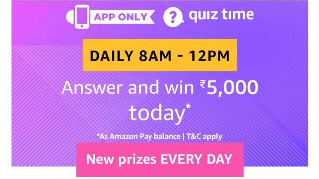 Amazon Quiz 17 June 2019 Answers - Win 5000 Pay Balance