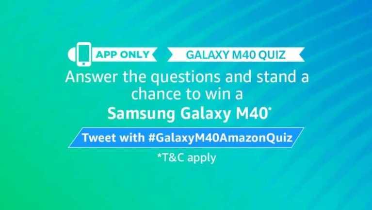 Amazon Galaxy M40 Quiz Answers - Samsung Galaxy M40