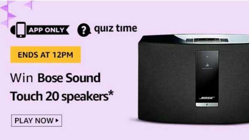 Amazon Quiz 20 September 2019 Answers Win - Bose Speakers