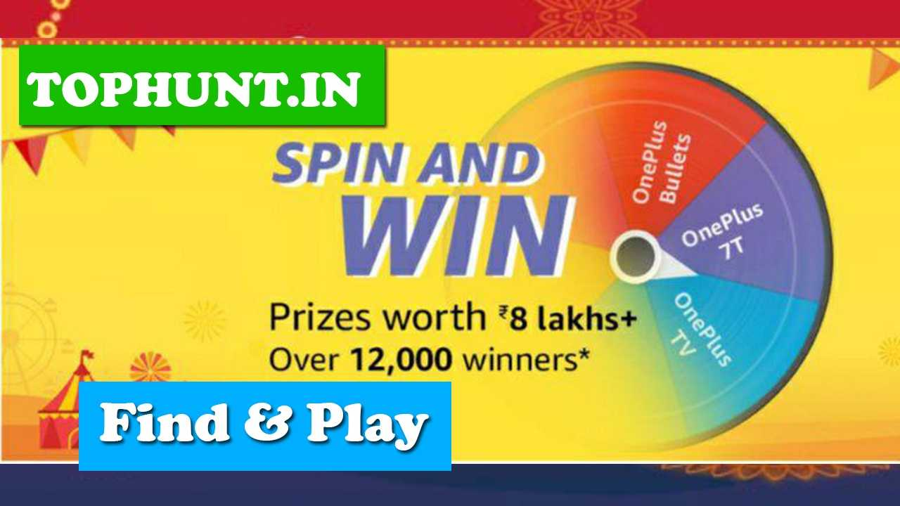 Amazon Oneplus Spin and Win Quiz Answers Win - Rs.8 Lakh