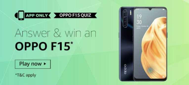 Amazon Oppo F15 Quiz Answers Win - Oppo F15 (5 Win)