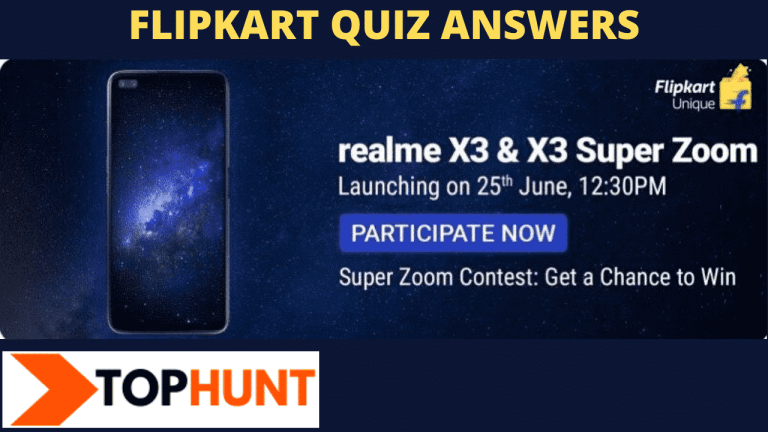Flipkart Realme X3 Quiz Answers win today (The the super zoom contest ), Flipkart Realme X3 Super Zoom Quiz Answers  - Hey Friends here are all correct 4 answers of The Quiz.