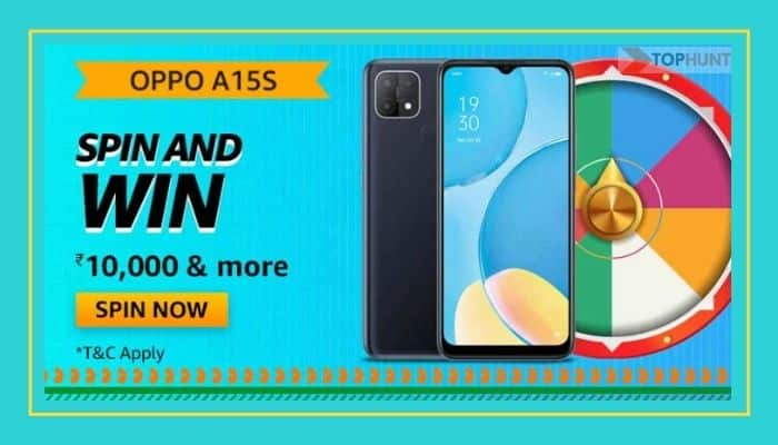 Amazon Oppo A15S Quiz Answers Spin and Win 10000