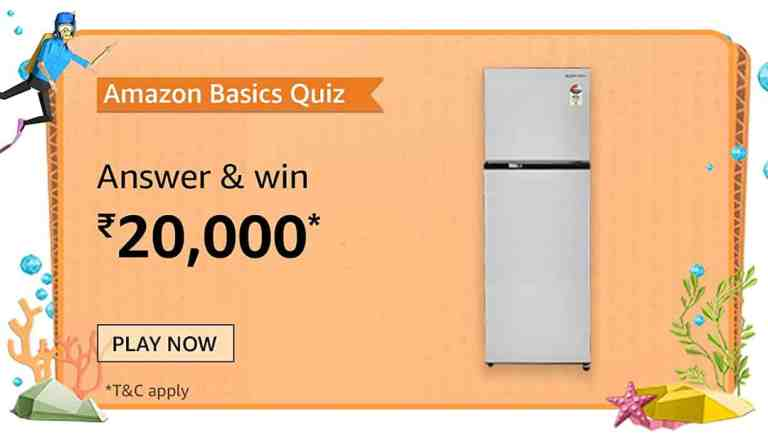 Amazon Amazon Basics Quiz Answers Win ₹20000