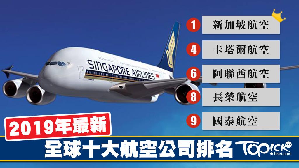 2019年全球十大航空公司排名 新加坡航空奪冠國泰航空不敵長榮 - 香港經濟日報 - TOPick - 精明消費 - D181116