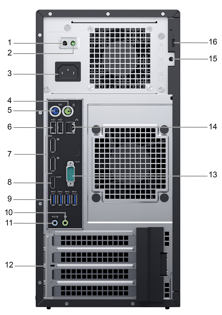 hight resolution of back panel features and indicators this figure shows the back panel features and indicators