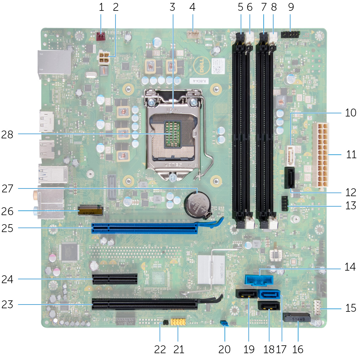hight resolution of image system board components