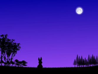 うさぎのお月見