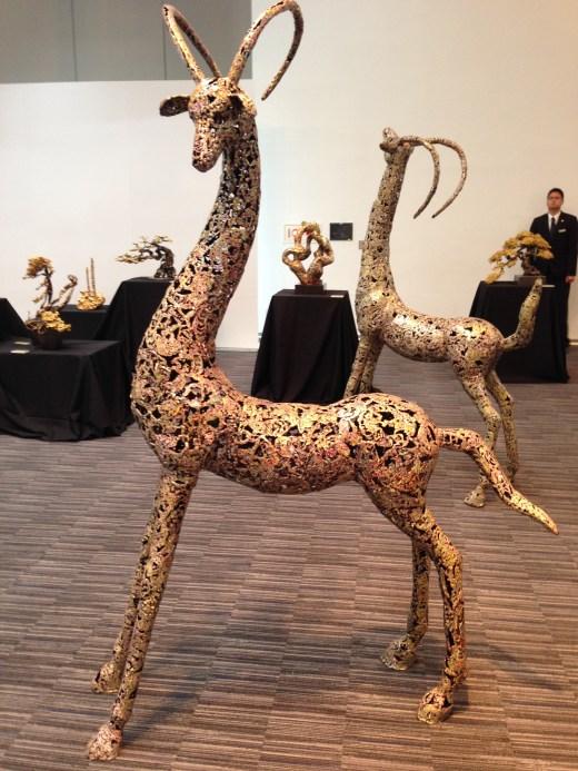 圖說:朱炳仁《靈鹿系列-7》作品(2013年11月於台北克緹展出)