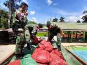 Patroli Satgas Pamtas 641 Berhasil Amankan 5,4 Ton Bawang