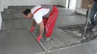 заливка мокрой стяжки для теплого водяного пола