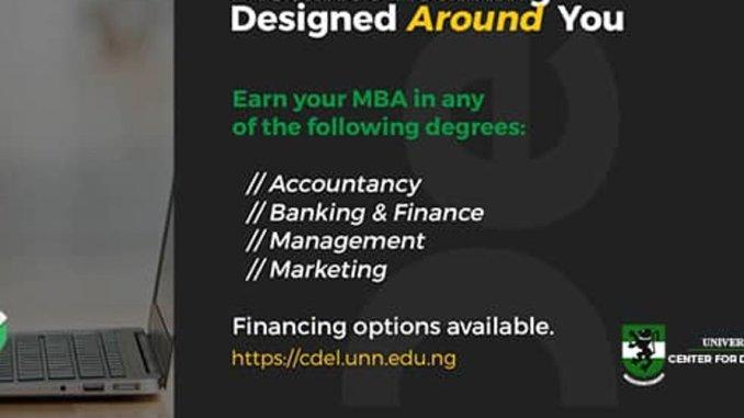 UNN MBA Admission Form