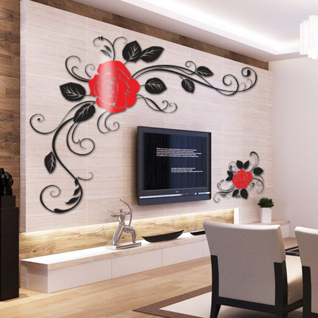 cheap wall units for living room best color walls according to vastu 16 uses of 3d stickers on tv add positive ...