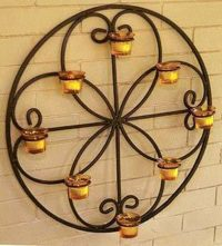 Wrought Iron Wall Decor With Candles - Wall Decor Ideas