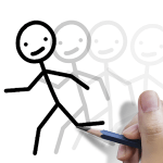 Stickman draw animation