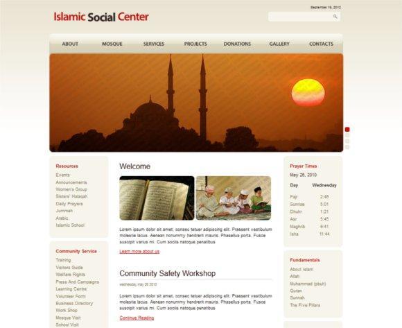 best islamic design template three