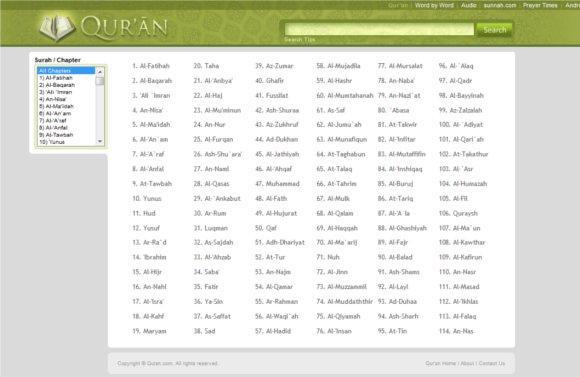best quran website one