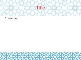 blue stars theme content slide