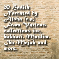hadith narrated by Aisha
