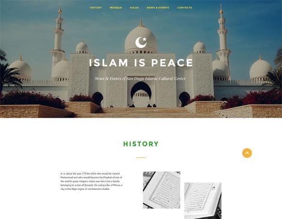 islam is peace website template topislamic.com
