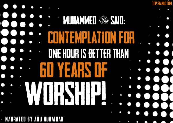 contemplation hadith