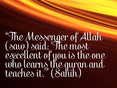 reward for learning the Quran image with quote
