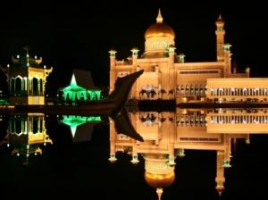 image of reflection of mosque islamic screensavers