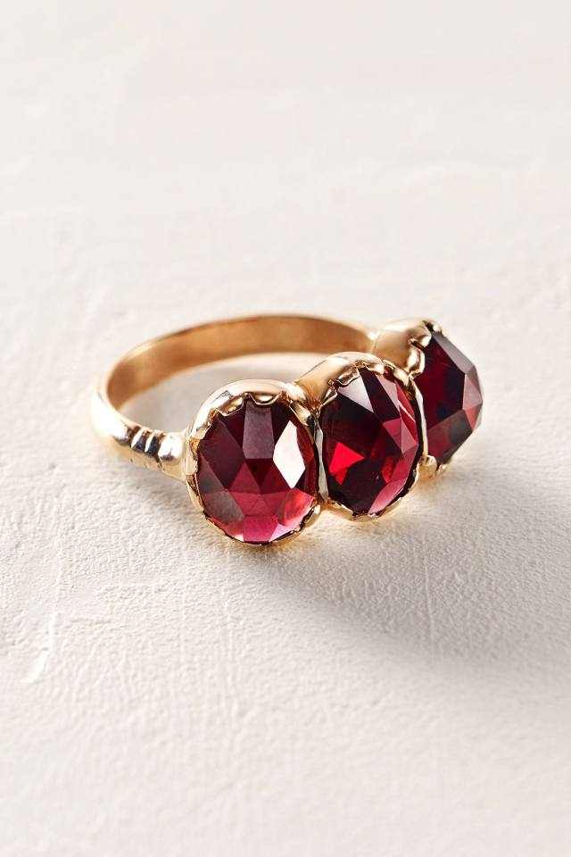 Ruby Trinity Ring by Arik Kastan
