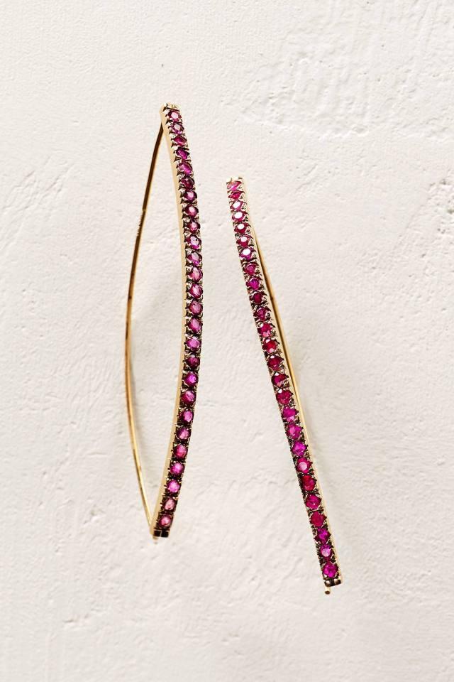 Ruby Arch Earrings in 14k Rose Gold by Arik Kastan